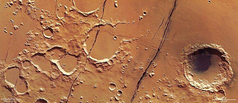Área de Cerberus Fossae - (Foto: Wikipédia)