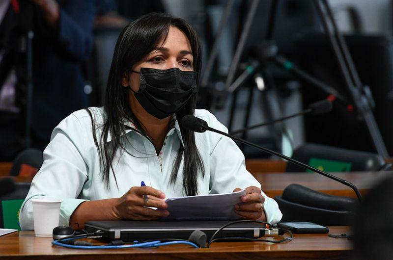 A senadora Eliziane Gama participou da reunião de instalação da CPI, na terça-feira - Edilson Rodrigues/Agência Senado
