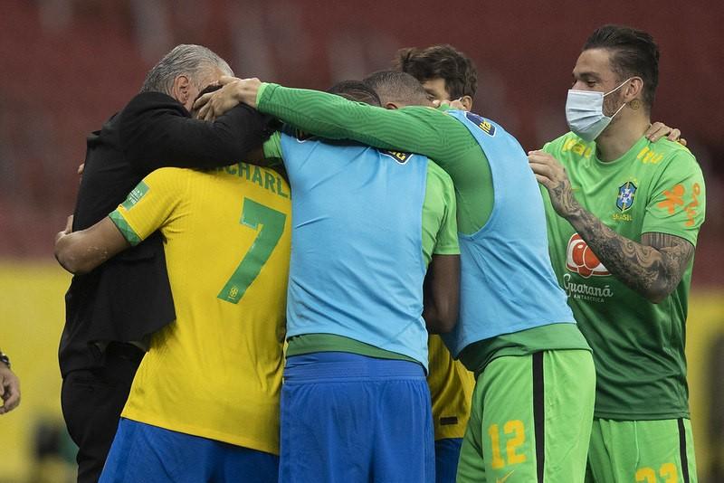 Richarlison comemora gol do Brasil contra o Equador pelas Eliminatórias - (Foto: Divulgação/CBF - 04.06.2021)