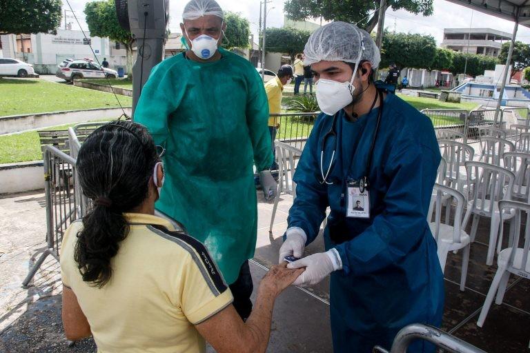 Enfermeiros em atuação durante a pandemia de Covid-19 - (Foto: Marcelo Seabra/Agência Pará)