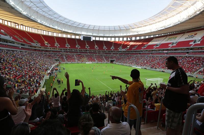 Jogo de futebol no Estádio Mané Garrincha, em Brasília - Marcos Oliveira/Agência Senado